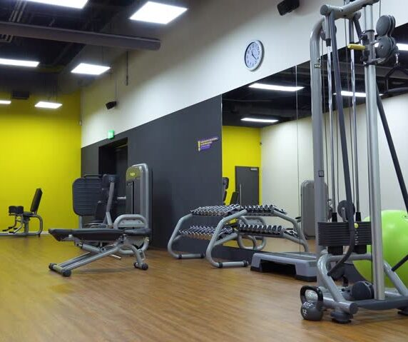 A Mississauga gym used to signify that PSB Fitness is an in-house operation; meaning, people come into the business